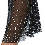 Jackie Jon 3/4 Bell Sleeve Beaded Shift Dress