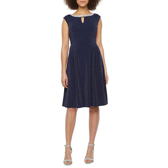 Scarlett Sleeveless Embellished Midi Fit & Flare Dress