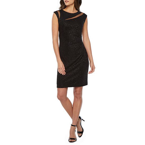 Scarlett Sleeveless Glitter Knit Sheath Dress