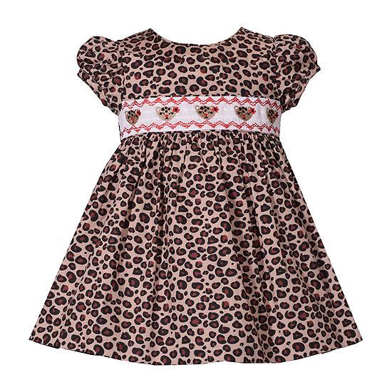 Bonnie Jean 2-pc. Girls Short Sleeve Floral A-Line Dress - Baby