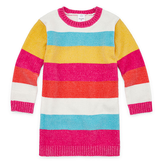 Okie Dokie Toddler Girls Long Sleeve Sweater Dress