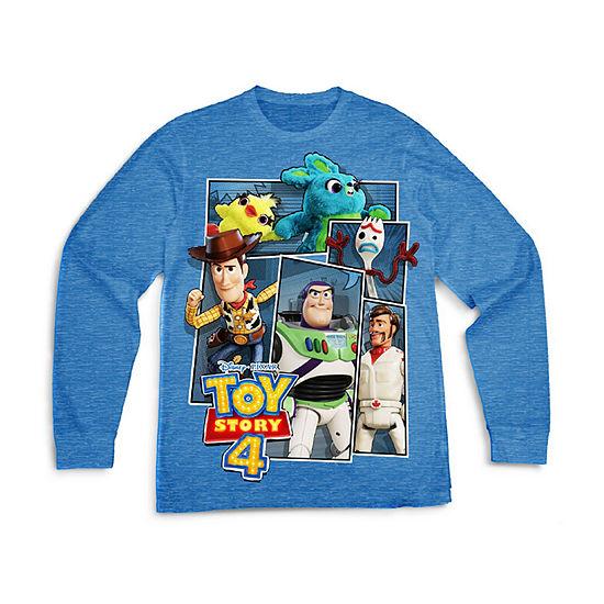 Boys Crew Neck Long Sleeve Toy Story Graphic T-Shirt - Preschool / Big Kid