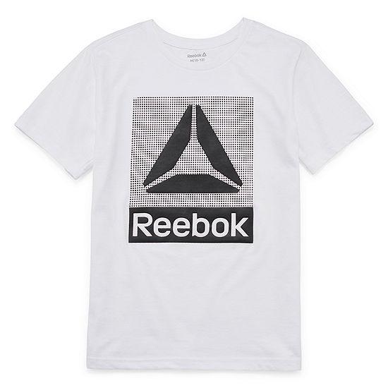 Reebok Boys Crew Neck Short Sleeve Graphic T-Shirt - Big Kid