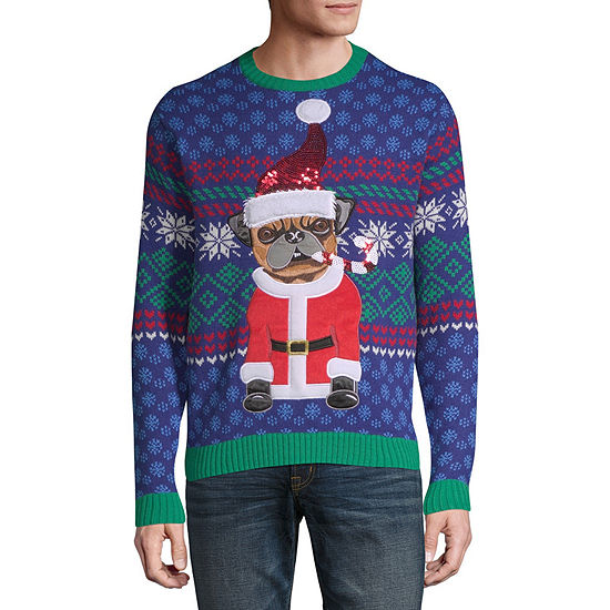 Novelty Season Ugly Christmas Crew Neck Long Sleeve Pullover Sweater