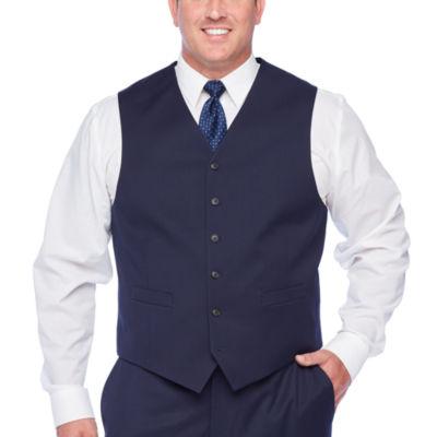 Stafford Super Navy Suit Vest - Big & Tall