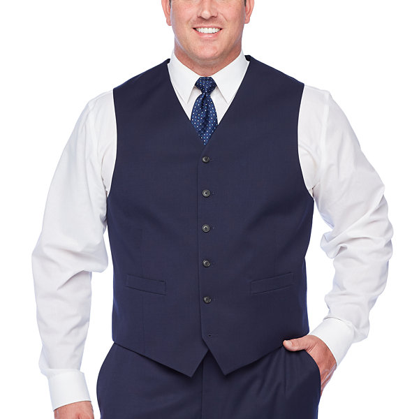 Stafford Super Navy Suit Vest - Big & Tall