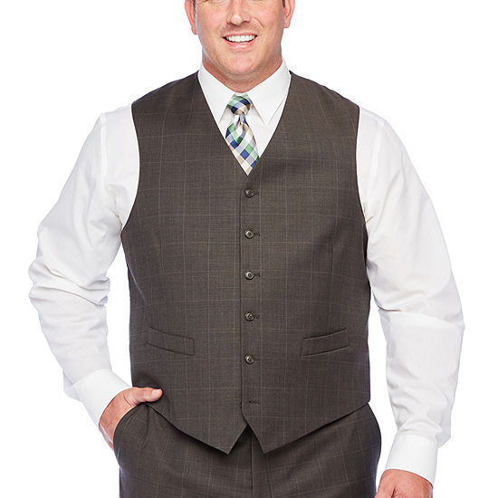 Stafford Super Windowpane Stretch Suit Vest