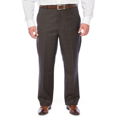 Stafford Super Suit Windowpane Stretch Suit Pants