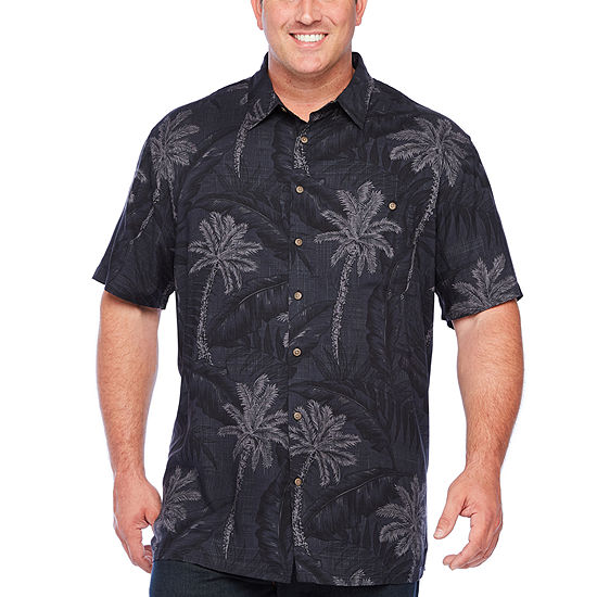 The Foundry Big & Tall Supply Co. Big and Tall Mens Short Sleeve Button-Down Shirt