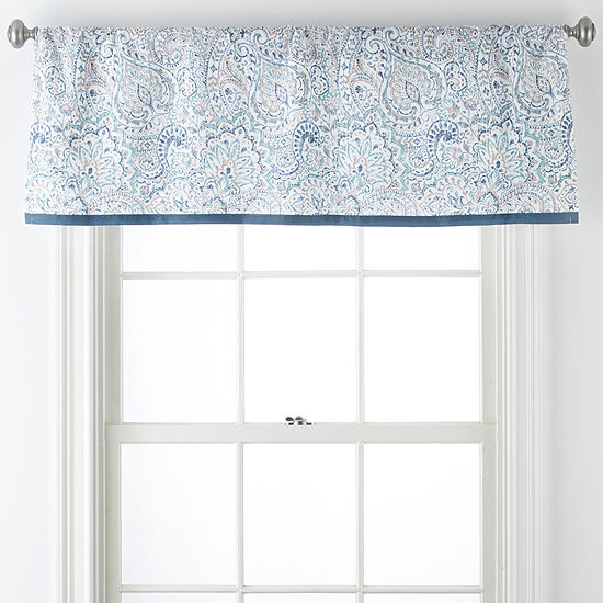 JCPenney Home Audrey Rod-Pocket/Back-Tab Tailored Valance