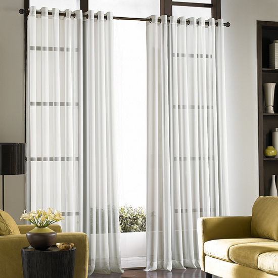CHF Soho Voile Sheer Grommet-Top Curtain Panel
