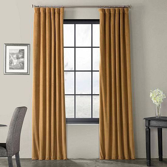 Exclusive Fabrics & Furnishing Signature Blackout Velvet Curtain Panel