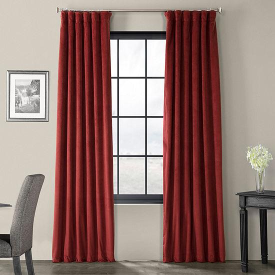 Exclusive Fabrics & Furnishing Signature Energy Saving Blackout Back-Tab Single Curtain Panel