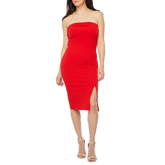 Premier Amour Strapless Sheath Dress
