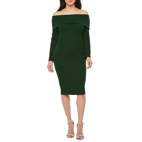Premier Amour Long Sleeve Sheath Dress
