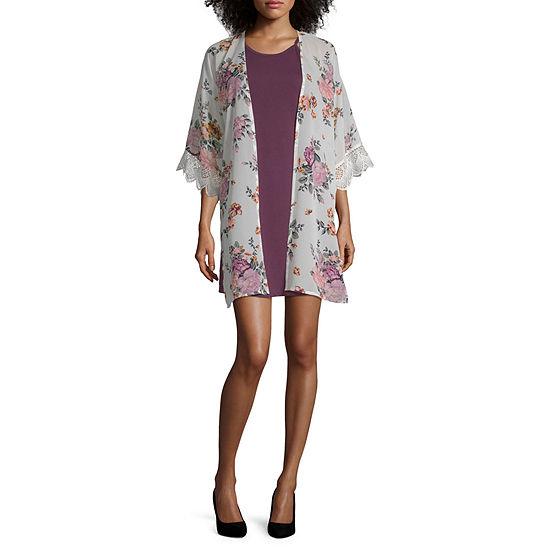 Wallflower Sleeveless Dress Set-Juniors