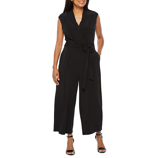 London Style Sleeveless Jumpsuit-Petite