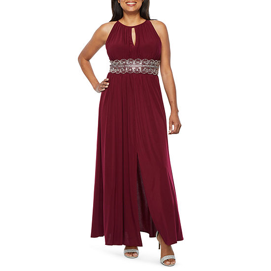 R & M Richards Sleeveless Embellished Evening Gown-Petite