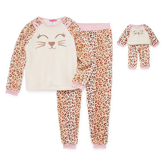 Girls 4-pc. Pant Pajama Set Preschool