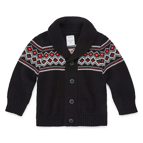 Okie Dokie Boys Long Sleeve Cardigan - Baby