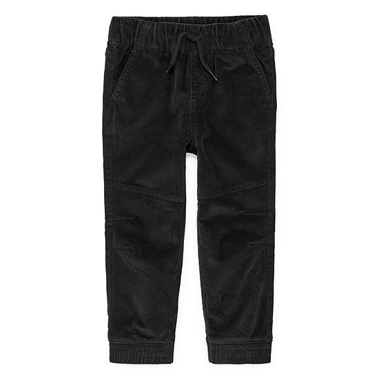 Okie Dokie Boys Corduroy Mid Rise Cuffed Jogger Pant - Toddler