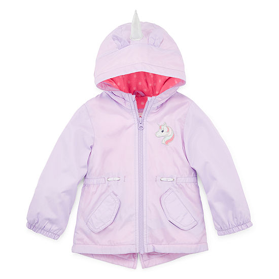 Carter's Unicorn Baby Girls Hooded Water Resistant Midweight Anorak