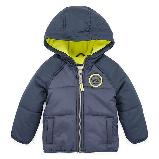 Carter's - Boys Hooded Water Resistant Heavyweight Puffer Jacket-Baby