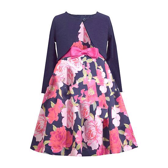 Bonnie Jean Girls 2-pc. Jacket Dress - Toddler