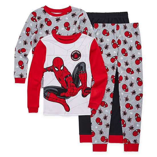 4-pc. Spiderman Pajama Set Preschool / Big Kid Boys