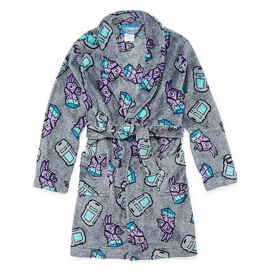 Fortnite Boys Fleece Robe Long Sleeve Mid Length