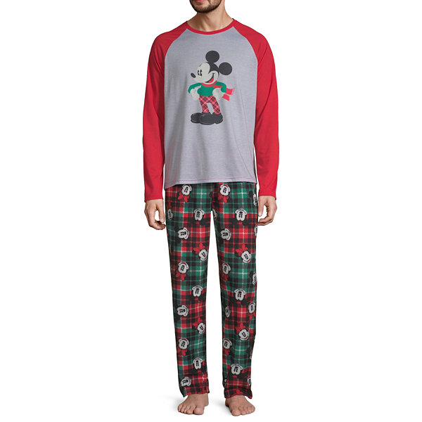 Disney Mickey Graphic Tee Family  2 Piece Pajama Set -Men's