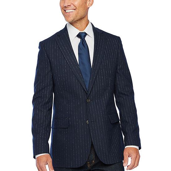 Stafford Slub Stripe Slim Fit Sport Coat