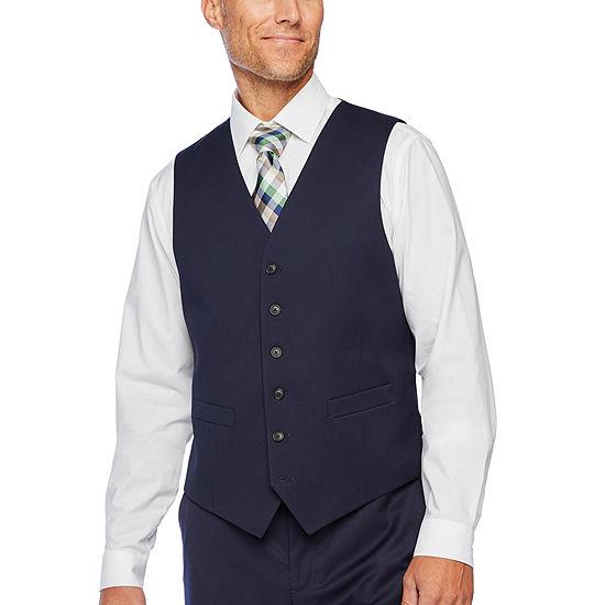 Stafford Super Suit Navy Classic Fit Suit Vest