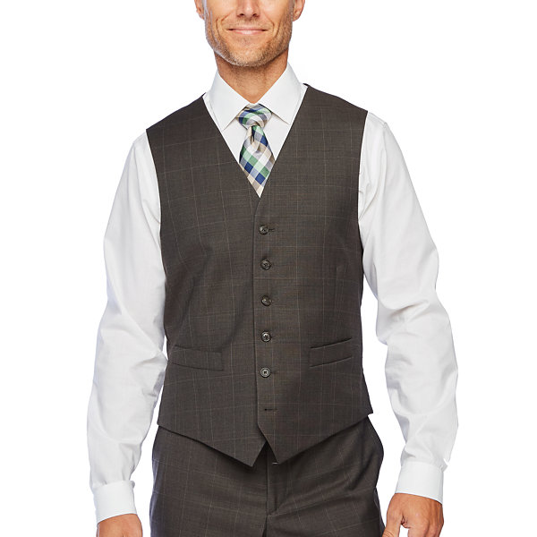 Stafford Super Windowpane Stretch Suit Vest