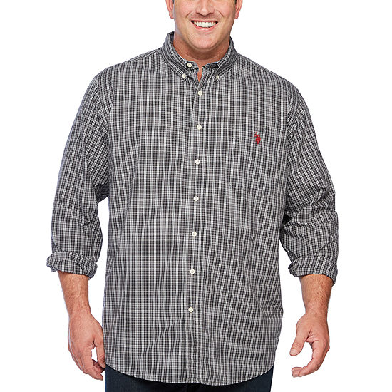 U.S. Polo Assn. Mens Long Sleeve Button-Down Shirt Big and Tall