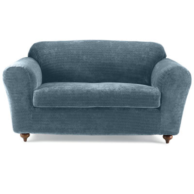 SURE FIT® Royal Diamond Stretch 2-pc. Loveseat Slipcover