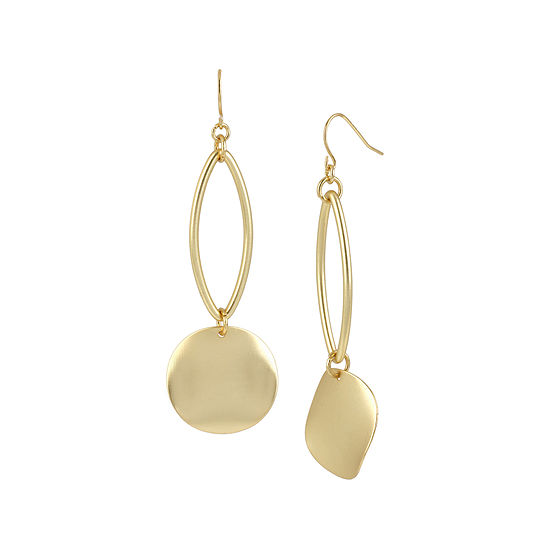 Bold Elements™ Gold-Tone Disc Drop Earrings