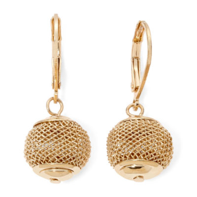 Monet® Gold-Tone Mesh Ball Drop Earrings