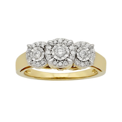 LIMITED QUANTITIES 1/4 CT. T.W. Diamond 10K Yellow Gold 3-Stone Ring