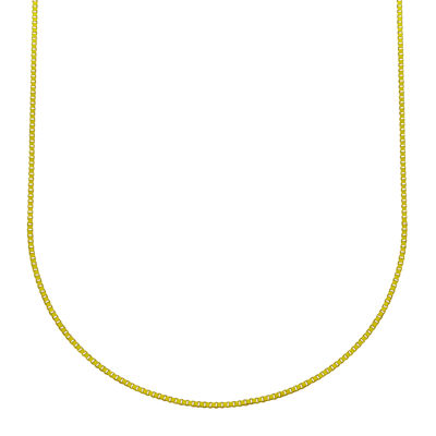 Made in Italy 18K Gold Solid Box Chain Necklace