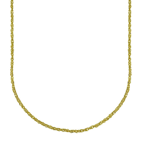 Made in Italy 18K Yellow Gold Hollow Perfectina Chain Necklace
