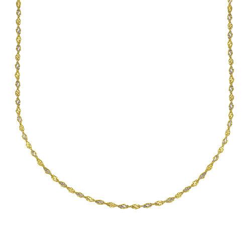 "Majestique™ 18K Two-Tone Gold 18"" Twist Chain Necklace"