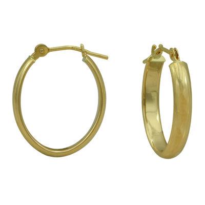 Majestique™ 18K Yellow Gold 14mm Oval Hoop Earrings