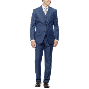 jcpenney.com | Stafford® Travel Medium Blue Suit Separates - Slim Fit