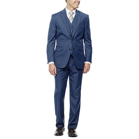 Stafford Travel Medium Blue Suit Separates Slim Fit