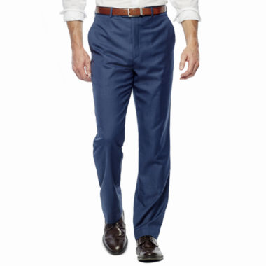 Stafford® Travel Medium Blue Stretch Suit Pants - Classic Fit