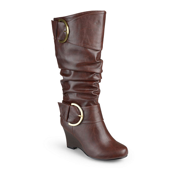 Journee Collection Meme Womens Wedge Boots