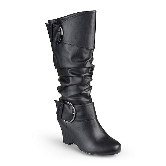 a867653f39e Journee Collection Meme Wedge Boots - Wide Calf - JCPenney