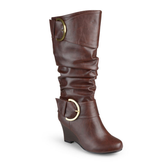 Journee Collection Meme Wedge Boots - Wide Calf
