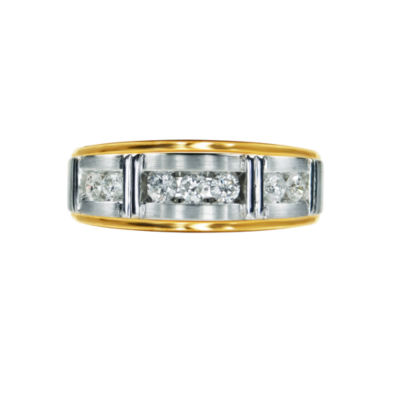 Womens 1/2 CT. T.W. Genuine White Diamond 10K Gold Band